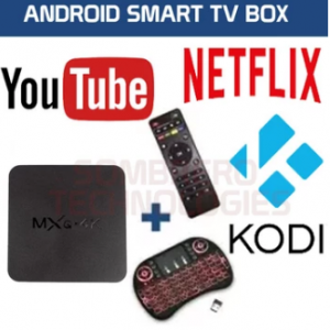Android 7.1 TV Box MXQ 4k Ultra TV BOX MEDIA PLAYER (NETFLIX, WIFI, KODI, YouTube) With Wireless BackLid Keyboard